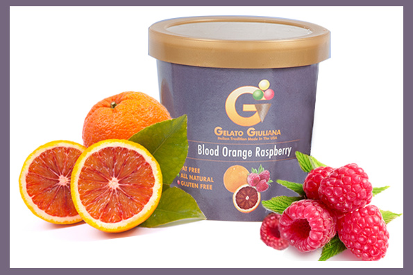 Blood Orange Raspberry Gelato Giuliana